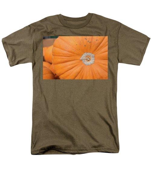 Fresh Organic Orange Giant Pumking Harvesting From Farm At Farme Men's T-Shirt  (Regular Fit) by Jingjits Photography