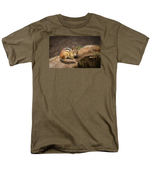 Friendly Chipmunk Men's T-Shirt  (Regular Fit) by Paul Miller