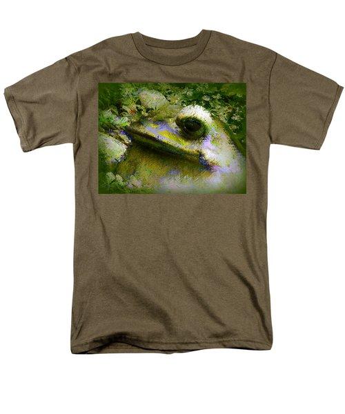 Frog In The Pond Men's T-Shirt  (Regular Fit) by Lori Seaman