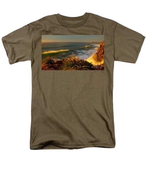 Men's T-Shirt  (Regular Fit) featuring the photograph From The Headland by Trena Mara
