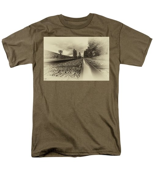Men's T-Shirt  (Regular Fit) featuring the photograph From The Track Antique by Darcy Michaelchuk