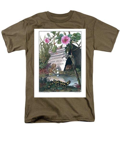 Frontis Of Historia Naturalis Ranarum Nostratium Men's T-Shirt  (Regular Fit) by ArtistAugust Johann Roesel von Rosenhof