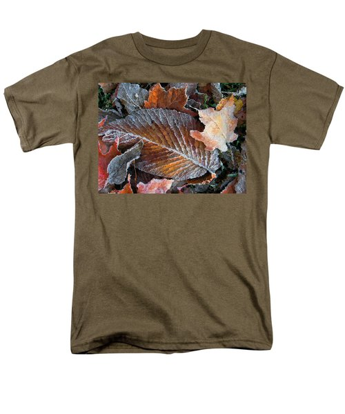 Frosted Painted Leaves Men's T-Shirt  (Regular Fit) by Shari Jardina