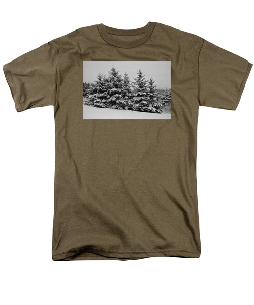 Men's T-Shirt  (Regular Fit) featuring the photograph Frosted Trees by Kathleen Sartoris