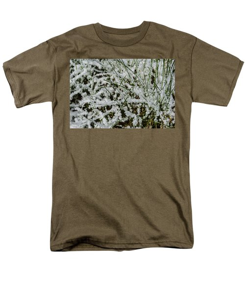 Men's T-Shirt  (Regular Fit) featuring the photograph Frosty Grass by Deborah Smolinske