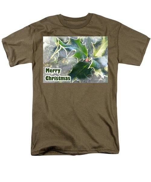 Men's T-Shirt  (Regular Fit) featuring the photograph Frosty Holly by LemonArt Photography
