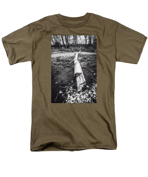 Men's T-Shirt  (Regular Fit) featuring the photograph Frozen Landscape by Andy Crawford