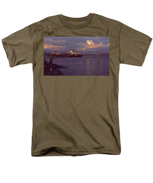 Fuel Dock, Port Townsend Men's T-Shirt  (Regular Fit) by Laurie Stewart