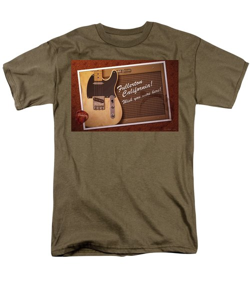 Men's T-Shirt  (Regular Fit) featuring the digital art Fullerton Postcard by WB Johnston