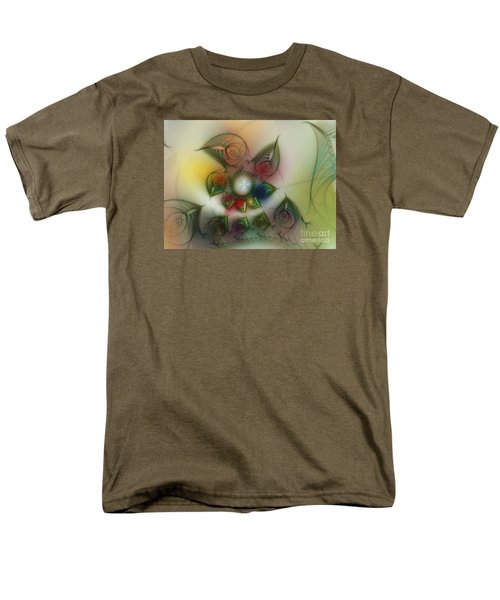 Men's T-Shirt  (Regular Fit) featuring the digital art Fun With Gardening by Karin Kuhlmann