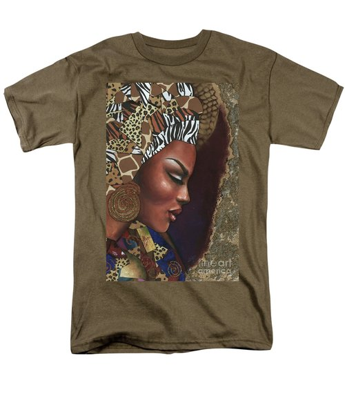 Men's T-Shirt  (Regular Fit) featuring the mixed media Further Contemplation by Alga Washington