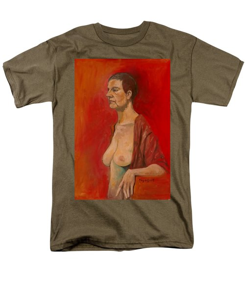 Men's T-Shirt  (Regular Fit) featuring the painting Gabrielle Standing by Ray Agius