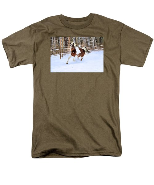 Galloping In The Snow Men's T-Shirt  (Regular Fit) by Elizabeth Dow