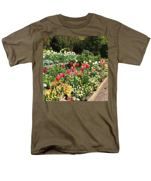 Garden Flowers Men's T-Shirt  (Regular Fit) by Kay Gilley