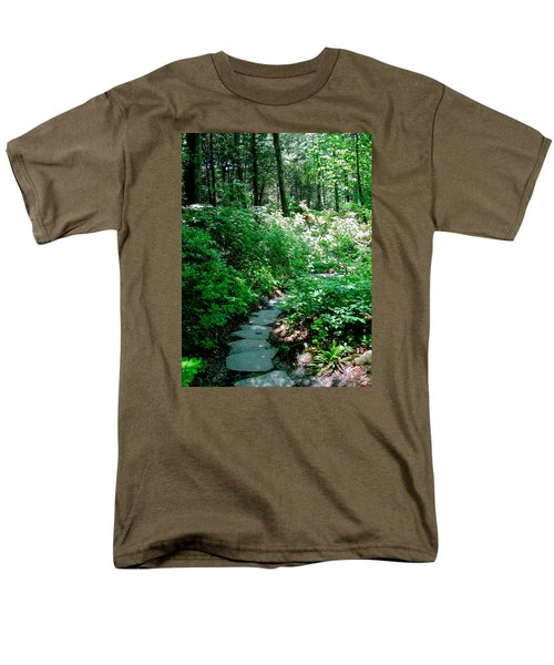 Garden In The Woods Men's T-Shirt  (Regular Fit) by Deborah Dendler
