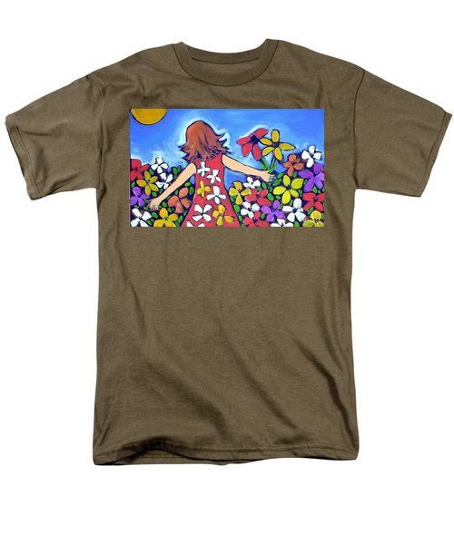 Men's T-Shirt  (Regular Fit) featuring the painting Garden Of Joy by Winsome Gunning