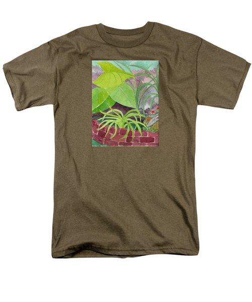 Garden Scene 9-21-10 Men's T-Shirt  (Regular Fit) by Fred Jinkins