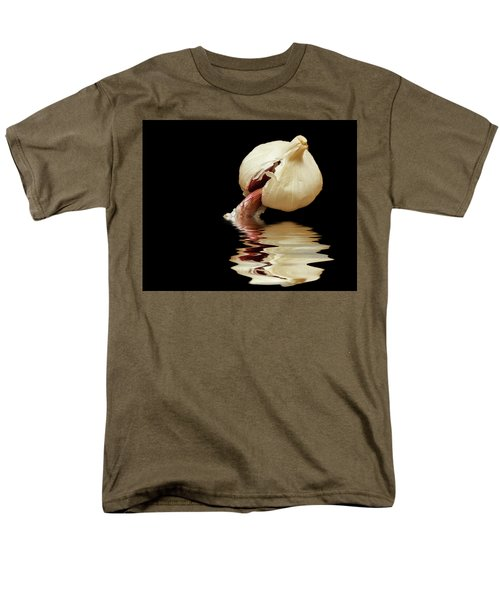 Men's T-Shirt  (Regular Fit) featuring the photograph Garlic Cloves Of Garlic by David French