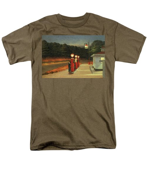 Gas  Men's T-Shirt  (Regular Fit) by Edward Hopper