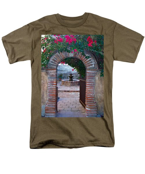 Gate To The Sacred Garden And Bell Wall Mission San Juan Capistrano California Men's T-Shirt  (Regular Fit) by Karon Melillo DeVega