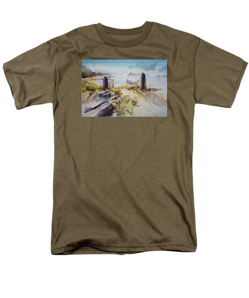 Gated Shore Men's T-Shirt  (Regular Fit) by P Anthony Visco