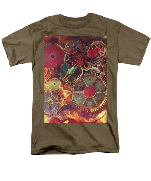 Men's T-Shirt  (Regular Fit) featuring the painting Gear Works by Suzanne Canner