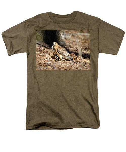 Men's T-Shirt  (Regular Fit) featuring the photograph Gecko For Lunch by George Randy Bass