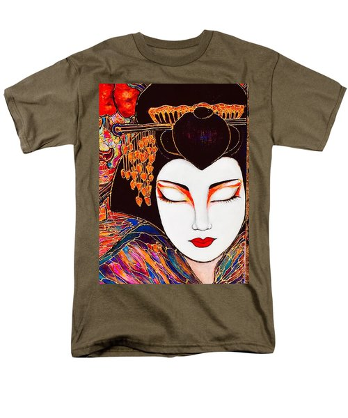 Men's T-Shirt  (Regular Fit) featuring the painting Geisha by Rae Chichilnitsky