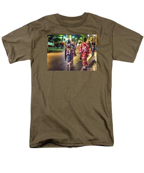 Men's T-Shirt  (Regular Fit) featuring the photograph Geishas In A Rush by Pravine Chester