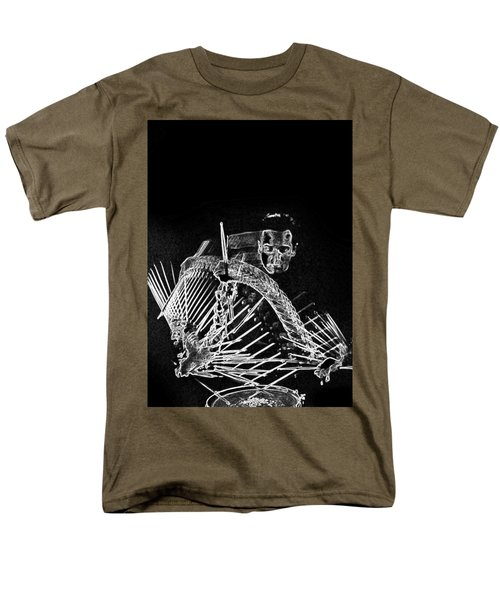 Men's T-Shirt  (Regular Fit) featuring the mixed media Gene Krupa by Charles Shoup