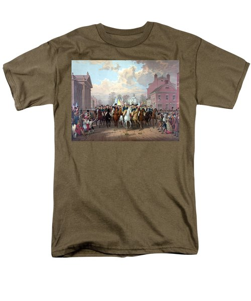 General Washington Enters New York Men's T-Shirt  (Regular Fit) by War Is Hell Store