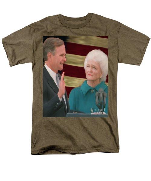 George Hw Bush Inauguration  Men's T-Shirt  (Regular Fit) by Jack Bunds