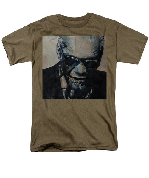 Georgia On My Mind - Ray Charles  Men's T-Shirt  (Regular Fit) by Paul Lovering