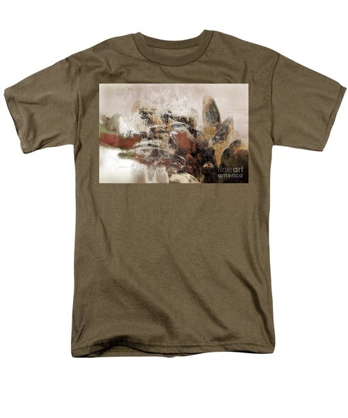 Men's T-Shirt  (Regular Fit) featuring the mixed media Gerberie - 152s by Variance Collections