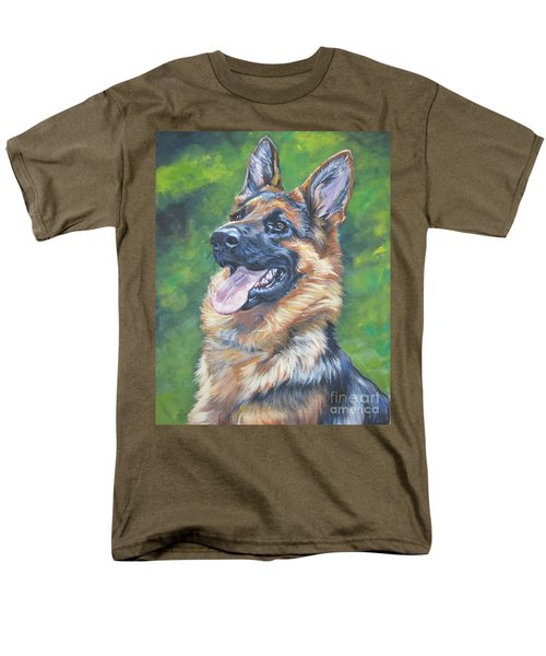 German Shepherd Head Study Men's T-Shirt  (Regular Fit) by Lee Ann Shepard