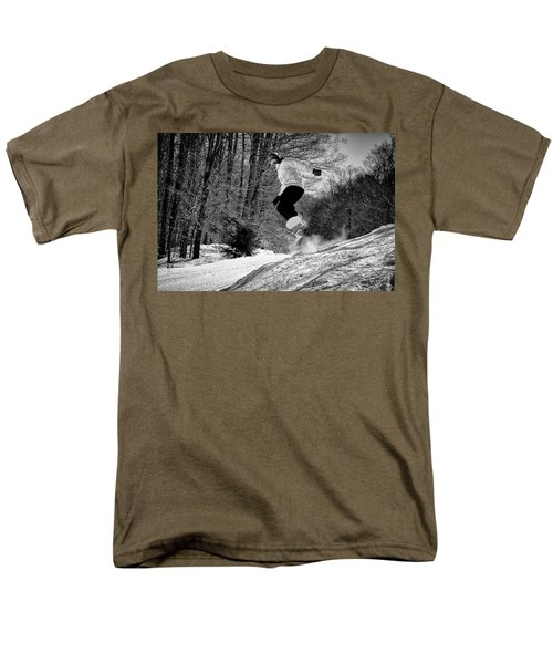 Men's T-Shirt  (Regular Fit) featuring the photograph Getting Air On The Snowboard by David Patterson