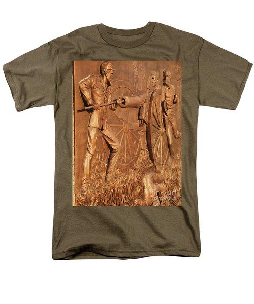Gettysburg Bronze Relief Men's T-Shirt  (Regular Fit) by Eric  Schiabor