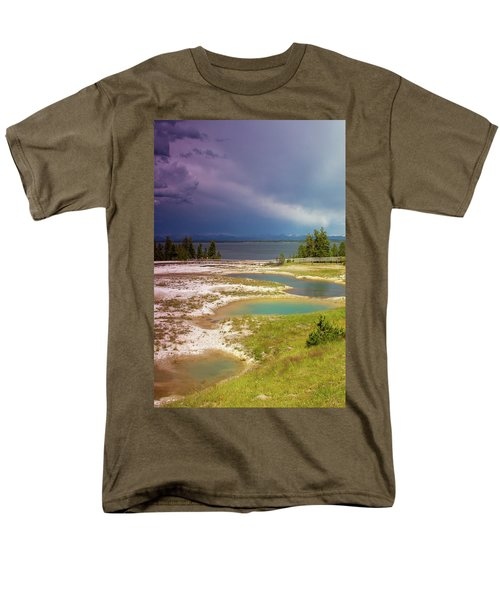 Men's T-Shirt  (Regular Fit) featuring the photograph Geysers Pools by Dawn Romine