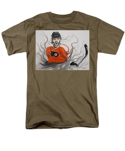 Men's T-Shirt  (Regular Fit) featuring the painting Ghost Bear by Kevin F Heuman