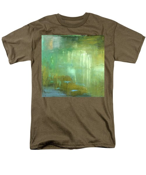 Men's T-Shirt  (Regular Fit) featuring the painting Ghosts In The Water by Michal Mitak Mahgerefteh