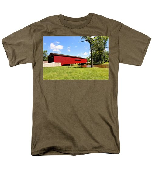 Gilpin's Falls Covered Bridge Men's T-Shirt  (Regular Fit) by Trina  Ansel
