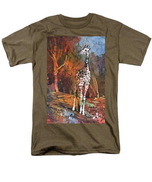 Men's T-Shirt  (Regular Fit) featuring the painting Giraffe Batik II by Ryan Fox