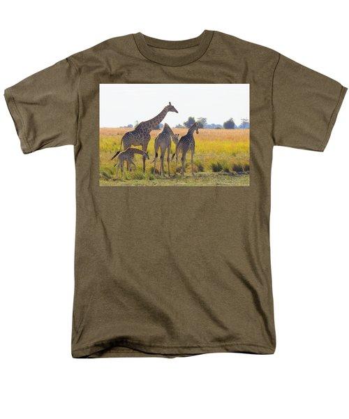 Men's T-Shirt  (Regular Fit) featuring the photograph Giraffe Family by Betty-Anne McDonald