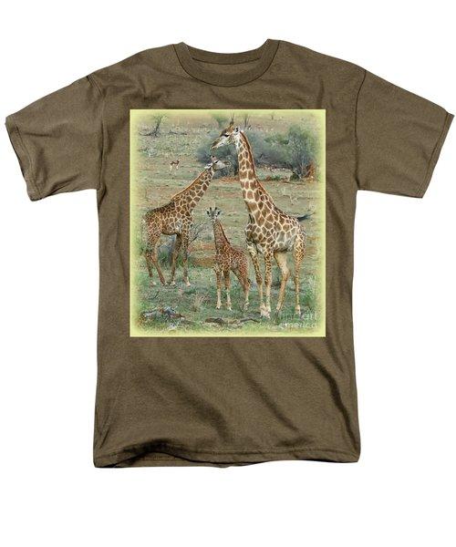 Men's T-Shirt  (Regular Fit) featuring the photograph Giraffe Family by Myrna Bradshaw