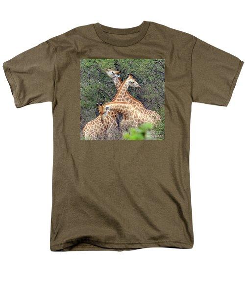 Giraffe Flirting Men's T-Shirt  (Regular Fit) by John Potts