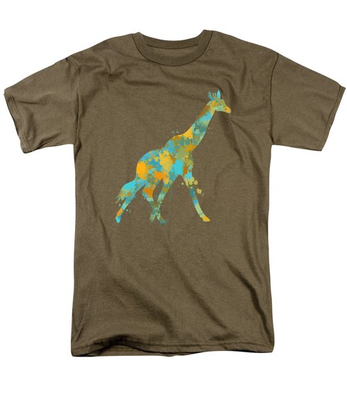 Giraffe Watercolor Art Men's T-Shirt  (Regular Fit) by Christina Rollo