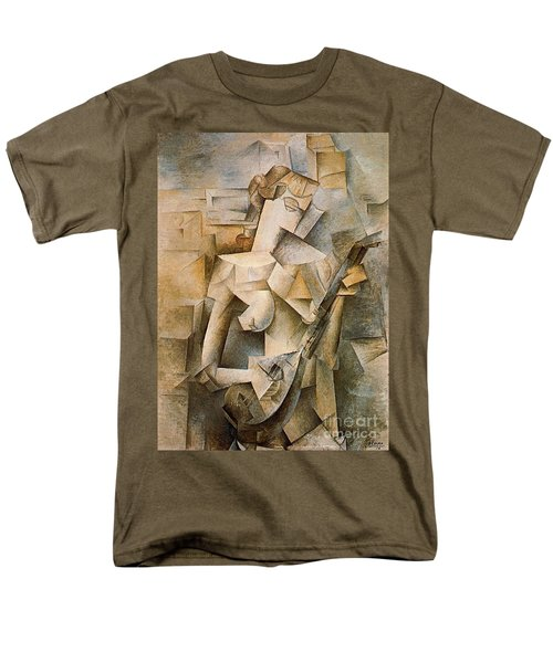 Girl With A Mandolin Men's T-Shirt  (Regular Fit) by Picasso