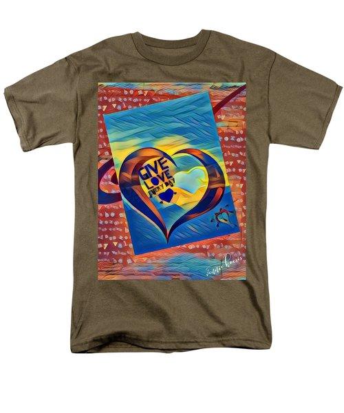Give Love Men's T-Shirt  (Regular Fit) by Vennie Kocsis