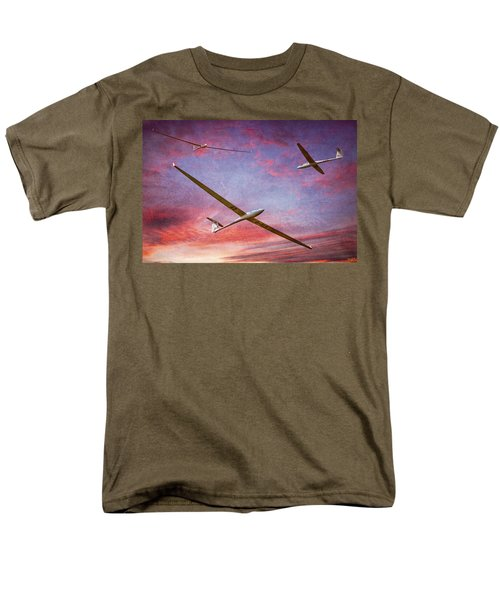 Gliders Over The Devil's Dyke At Sunset Men's T-Shirt  (Regular Fit) by Chris Lord