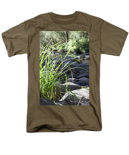 Men's T-Shirt  (Regular Fit) featuring the photograph Glistening In The Sunlight by Linda Lees